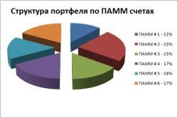 Структура портфеля ПАММ